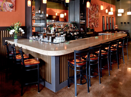 Custom concrete design inc specializing in decorative for Commercial bar flooring