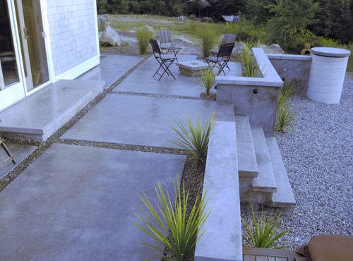 Project: Finely Ground U0026 Polished Patio With Linear Wall System U0026 PreCast  Caps