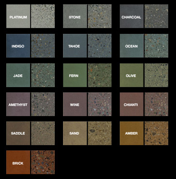 custom concrete design inc specializing in decorative stamped - Colored Concrete Countertops