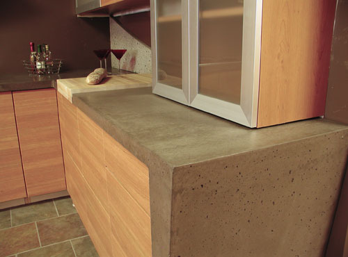 Custom concrete design inc specializing in decorative for Polished concrete kitchen countertops